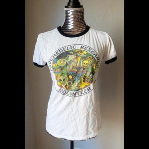 Psychedelic Research Ringer Shirt Wicked Clothes